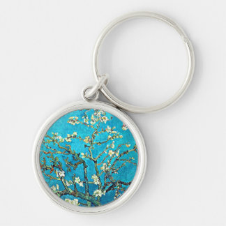 Van Gogh: Branches with Almond Blossoms Keychain