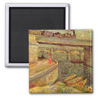 Van Gogh Bridges Across the Seine at Asnieres Magnet