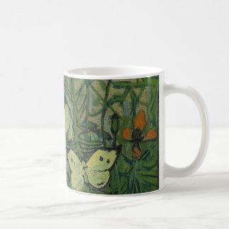 Van Gogh Butterflies and Poppies Vintage Flowers Mug