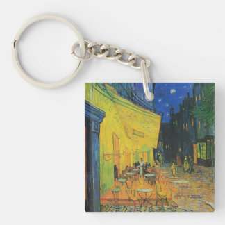 Van Gogh | Cafe Terrace at Night | 1888 Single-Sided Square Acrylic Keychain