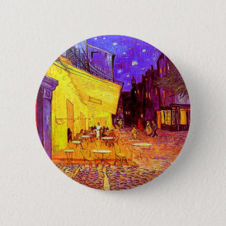 Van Gogh Cafe Terrace at Night 2 Inch Round Button