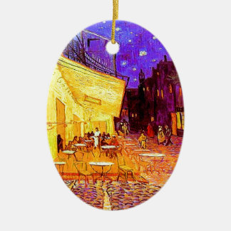 Van Gogh Cafe Terrace at Night Ceramic Ornament