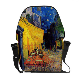 Van Gogh - Cafe Terrace At Night Courier Bags