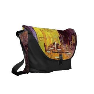 Van Gogh Cafe Terrace at Night Fine Art Messenger Messenger Bag
