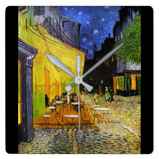 "Van Gogh, ""Cafe Terrace at Night"" Square Wall Clock"