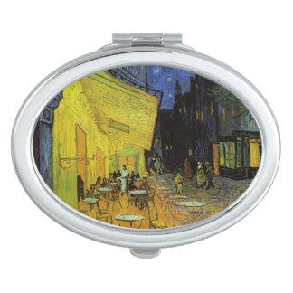 Van Gogh; Cafe Terrace at Night Travel Mirrors
