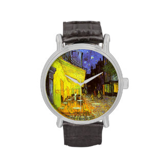Van Gogh: Cafe Terrace at Night Wrist Watches