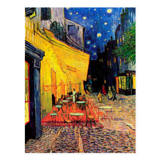 Van Gogh Cafe Terrace F467 Vintage Fine Art Postcard
