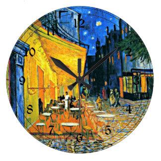 Van Gogh: Cafe Terrace Large Clock