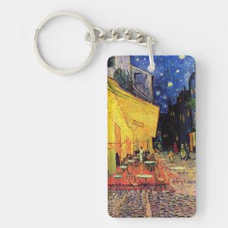 Van Gogh Cafe Terrace on Place du Forum, Fine Art Double-Sided Rectangular Acrylic Keychain