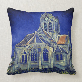 Van Gogh Cathedral Throw Pillow