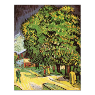 Van Gogh Chestnut Trees in Blossom, Fine Art Card