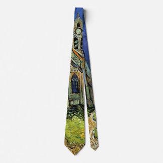 Van Gogh Church at Auvers, Vintage Architecture Tie
