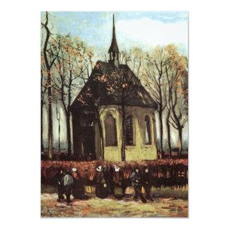 "Van Gogh Congregation Leaving the Reformed Church 5"" X 7"" Invitation Card"