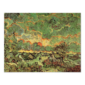 Van Gogh Cottages Cypresses Reminiscence of North Card