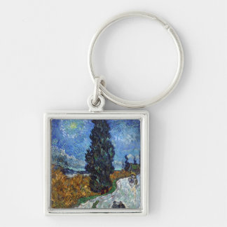 Van Gogh- Country Road in Provence by Night Keychain
