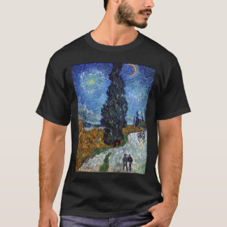 van gogh  country road in provence by night  van g T-Shirt