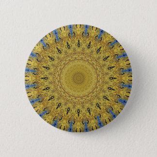 Van Gogh Crop Circle 2 Inch Round Button