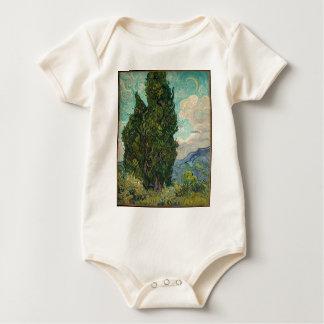 Van Gogh Cypresses Baby Bodysuit