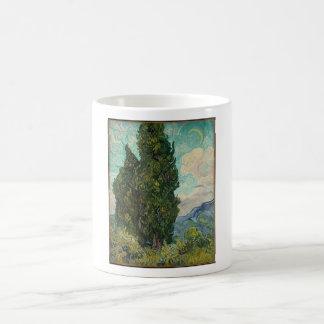 Van Gogh Cypresses Coffee Mug