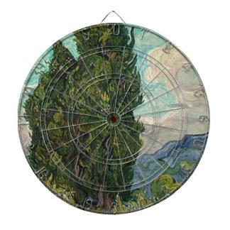Van Gogh Cypresses Dartboard
