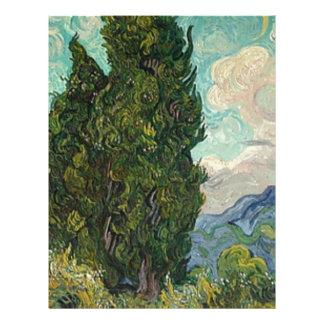 Van Gogh Cypresses Letterhead
