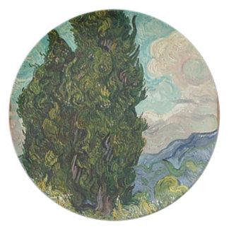 Van Gogh Cypresses Plate