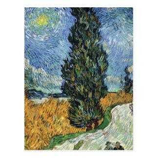 Van Gogh Cypresses Postcard