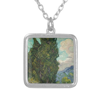 Van Gogh Cypresses Silver Plated Necklace