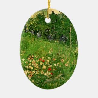 Van Gogh Daubigny's Garden, Vintage Fine Art Ceramic Oval Ornament