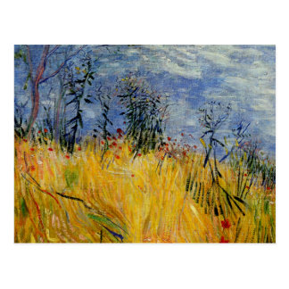 Van Gogh - Edge of a Wheat Field with Poppies Postcard