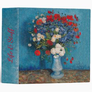 Van Gogh & Elizabeth Flowers - 3 Ring Binder