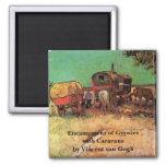 Van Gogh; Encampment of Gypsies with Caravans