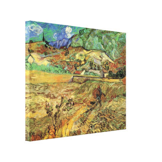 Van Gogh Enclosed Wheat Field and Peasant Fine Art Canvas Print