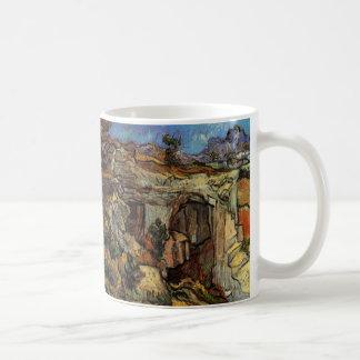 Van Gogh; Entrance to a Quarry, Vintage Landscape Coffee Mugs