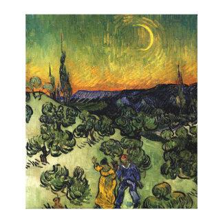 Van Gogh: Evening Promenade Canvas Print