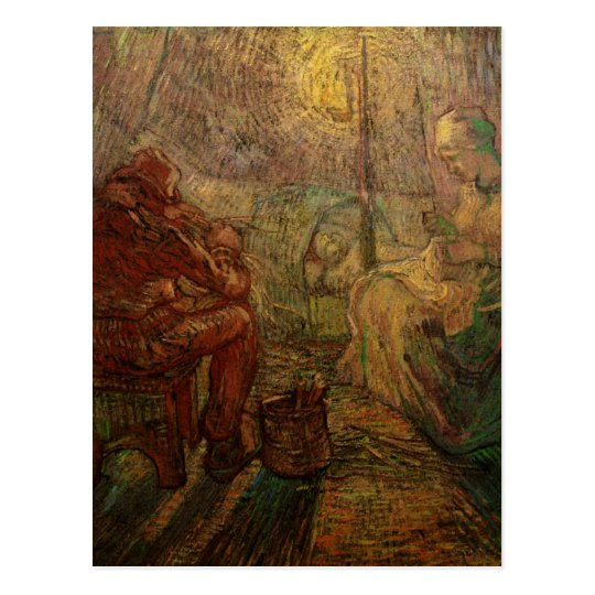 Van Gogh Evening: The Watch, Vintage Impressionism Postcard