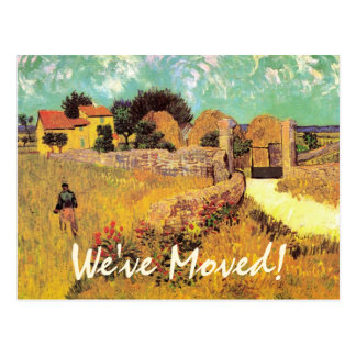 Van Gogh Farmhouse in Provence, Change of Address Postcard