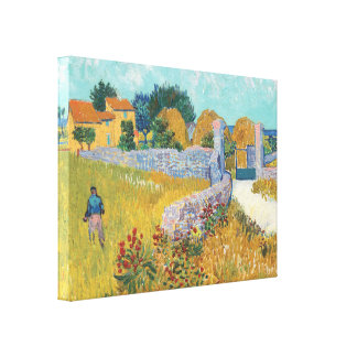 Van Gogh Farmhouse in Provence Gallery Wrapped Art Canvas Print