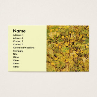 Van Gogh Field of Yellow Flowers, Vintage Fine Art Business Card