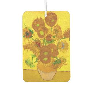 Van Gogh Fifteen Sunflowers In A Vase Fine Art Air Freshener