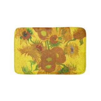 Van Gogh Fifteen Sunflowers In A Vase Fine Art Bath Mat