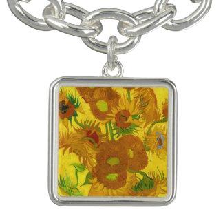 Van Gogh Fifteen Sunflowers In A Vase Fine Art Bracelets