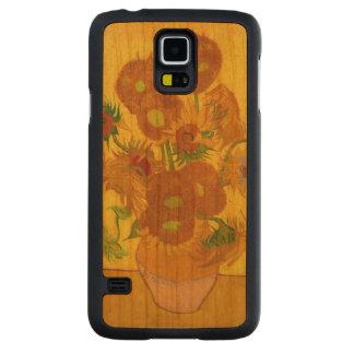 Van Gogh Fifteen Sunflowers In A Vase Fine Art Carved Cherry Galaxy S5 Case