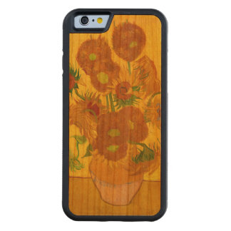 Van Gogh Fifteen Sunflowers In A Vase Fine Art Carved Cherry iPhone 6 Bumper Case
