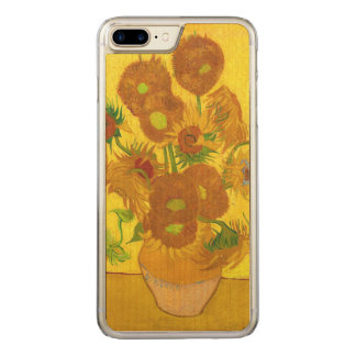 Van Gogh Fifteen Sunflowers In A Vase Fine Art Carved iPhone 8 Plus/7 Plus Case