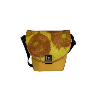 Van Gogh Fifteen Sunflowers In A Vase Fine Art Commuter Bag