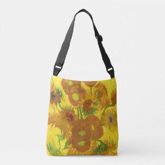 Van Gogh Fifteen Sunflowers In A Vase Fine Art Crossbody Bag