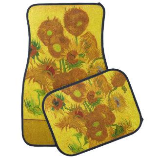Van Gogh Fifteen Sunflowers In A Vase Fine Art Floor Mat