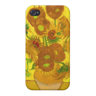 Van Gogh Fifteen Sunflowers In A Vase Fine Art iPhone 4/4S Cover